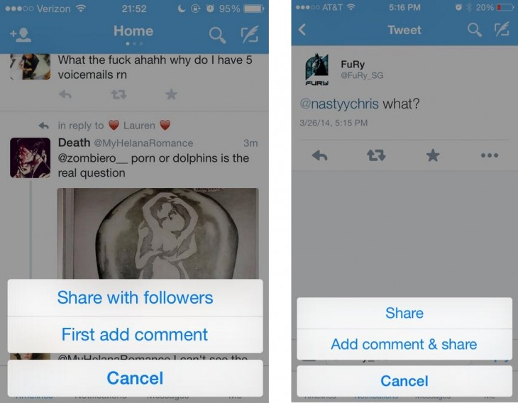 rts 730x568 Twitter is experimenting with replacing its sacred retweet button with a share button