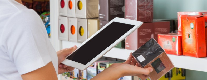 shopping in store tablet