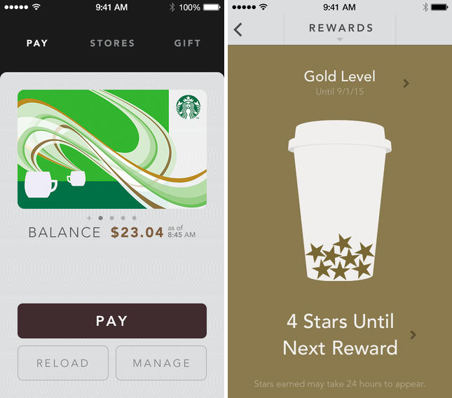 star2 Starbucks updates its iPhone app with Shake to Pay and digital tipping in the US