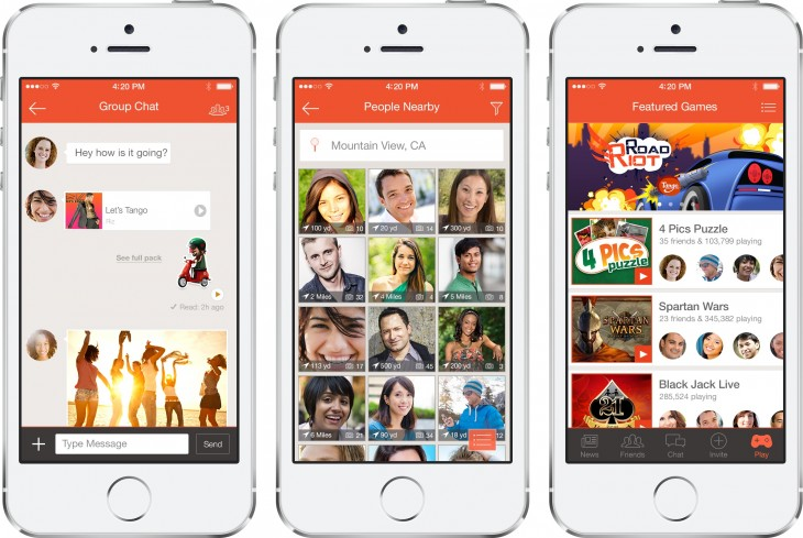 tango imgs 730x489 Chat app Tango raises a $280m mega round led by Alibaba, as it reaches 70m active users