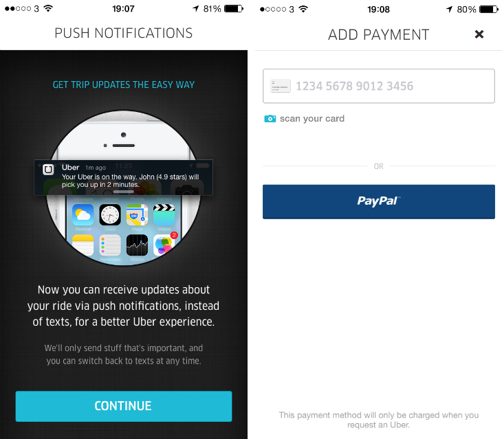 uber1 Uber updates its iOS app with push notifications for surge pricing