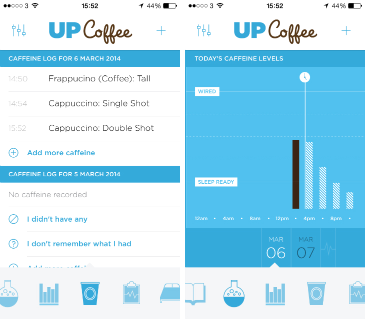 upcoffee3 Drink too much coffee? Jawbones new iOS app will tell you when to stop