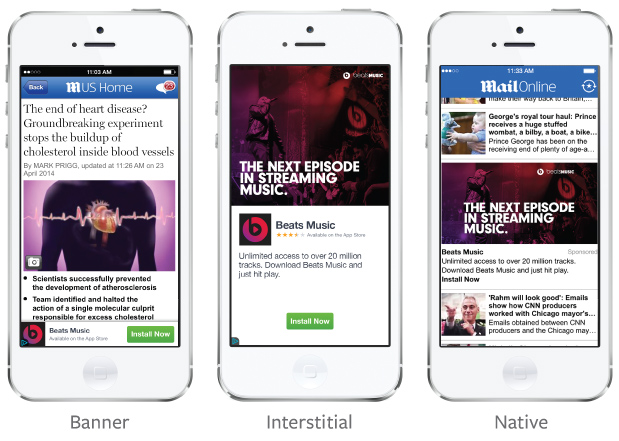 Facebook unveils Audience Network, its mobile ad network for third party apps