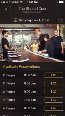 2.rdv  220x390 Table8 launches as a mobile app for booking last minute reservations at sold out restaurants
