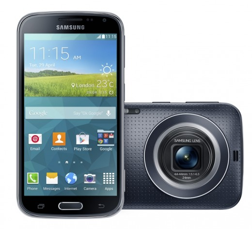 4.Galaxy K zoom Charcoal Black 1 520x472 Samsungs Galaxy K Zoom smartphone packs a 20 megapixel camera and 10x zoom lens