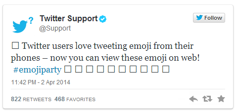 4V34TXw Boxes be gone, Twitter.com now supports emoji characters
