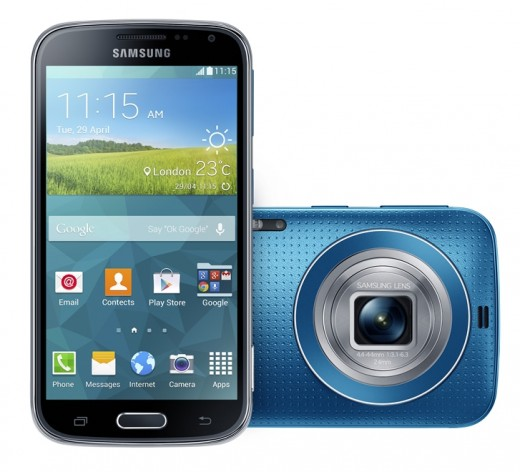 5. Galaxy K zoom Electric Blue 520x472 Samsungs Galaxy K Zoom smartphone packs a 20 megapixel camera and 10x zoom lens
