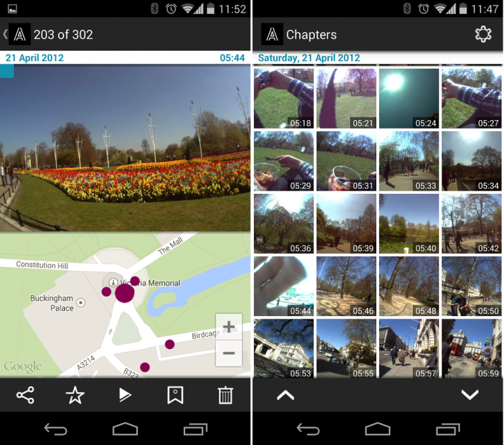 Autographer android 730x645 Autographers life logging camera now has its very own Android app