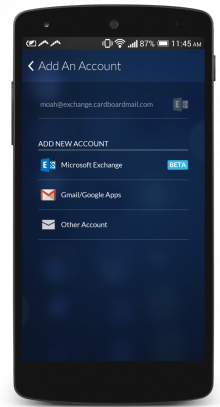 BoomerangAndroidExchange 220x407 Boomerang for Android adds support for Microsoft Exchange accounts