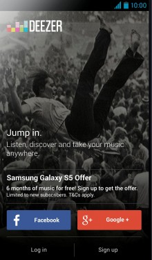 Deezer on Samsung 220x375 Not Milk: Samsung teams up with Deezer to tempt music fans in Europe