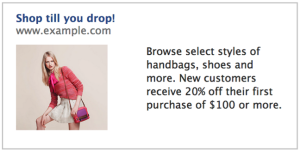 FacebookAd shop till you drop 300x151 Why advertisers should target personas, not segments, on Facebook