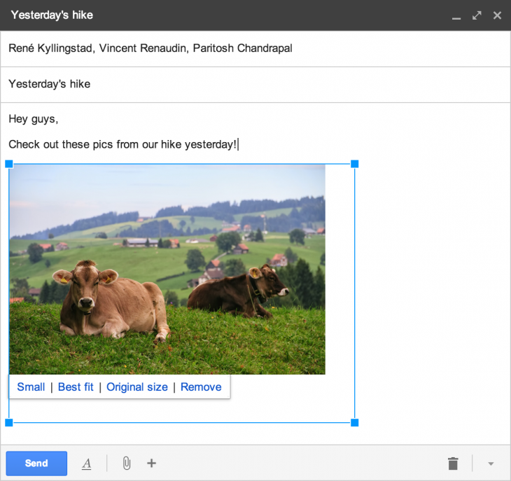 Gmail2 1 730x687 Gmail now lets you quickly add photos that you've backed up from a smartphone or tablet