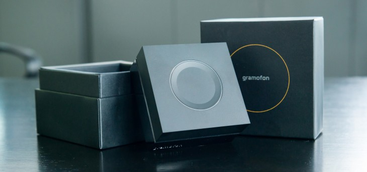 Gramofon with box 730x343 Gramofon from Fon: A Spotify streaming jukebox thats also a Facebook powered social WiFi router