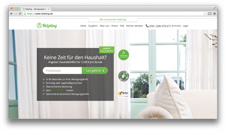 Helpling 730x423 Rocket Internet aims to clean up Germanys domestic cleaning industry with Helpling