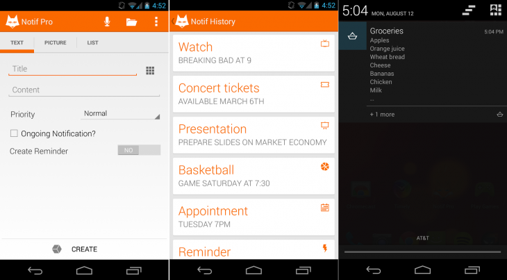 NotifPro 730x403 11 Android apps to make notifications more interesting