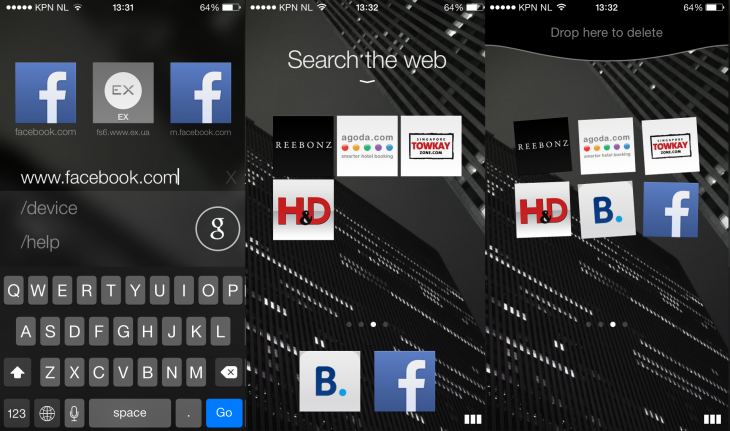 Opera Coast 2 730x431 Opera brings its gesture heavy Coast browser to the iPhone
