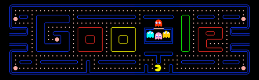 Pac Man 520x162 The inside story of Google Doodles: A campfire for the whole world