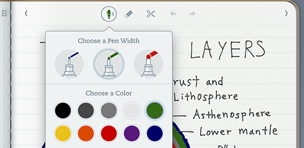 Pens1 Evernote updates Penultimate for iPad with a redesigned pen menu, easy stylus pairing, and more