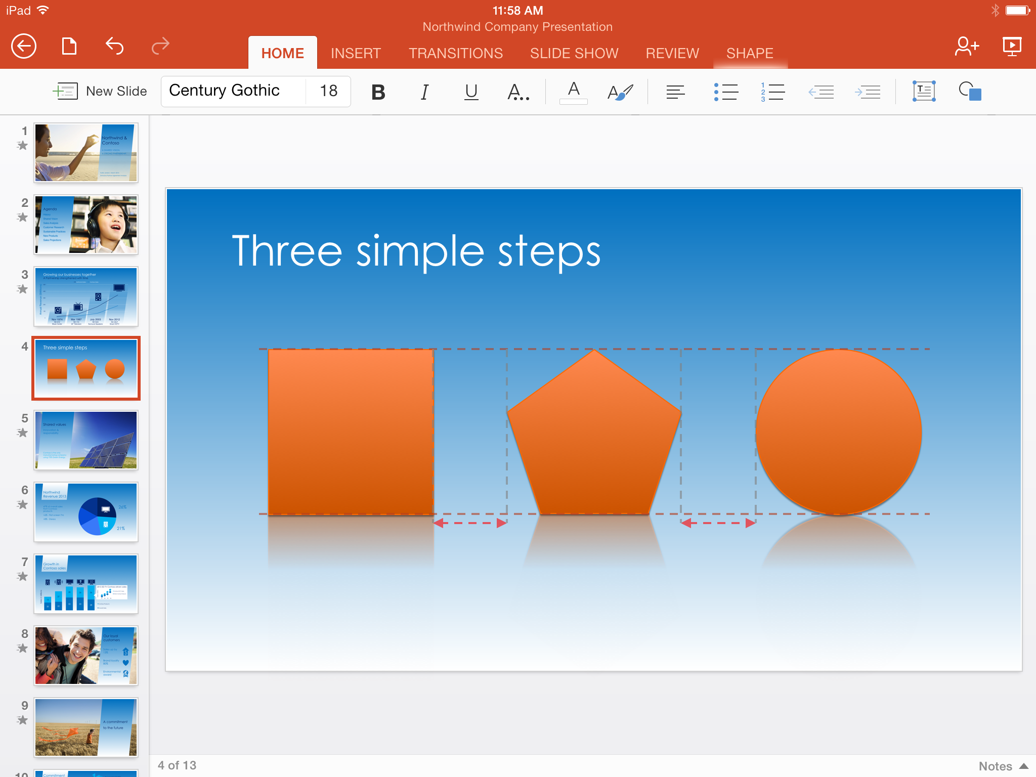 PowerPoint for iPad SmartGuides Microsoft updates Office for iPad with AirPrint support, AutoFit in Excel, and SmartGuides in PowerPoint