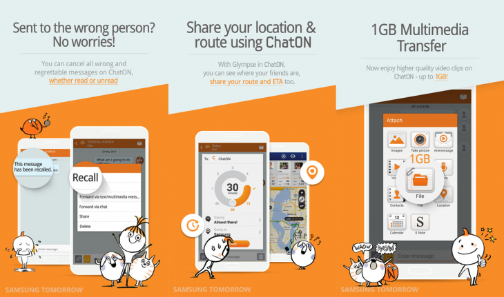 Samsung ChatOn 730x431 ChatOn, Samsung's own messaging app, now lets you recall sent messages and brings 1GB file sharing