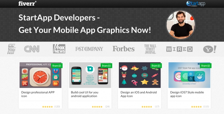 Screen Shot 2014 04 01 at 12.21.35 pm 730x373 Mobile ad network StartApp partners with marketplace Fiverr to let its developers buy app graphics