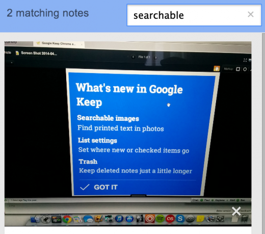 Screen Shot 2014 04 03 at 11.37.45 520x459 Google Keep updated with the ability to quickly search text in photos and a new look