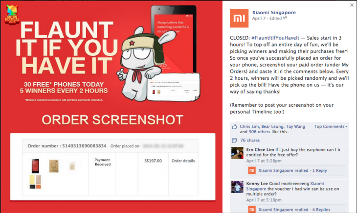 Screen Shot 2014 04 09 at 5.46.20 pm 730x435 Xiaomis social media strategy drives fan loyalty, books it $242m in sales in 12 hours