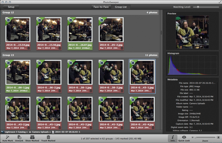 Screen Shot 2014 04 19 at 1.11.44 AM 730x469 PhotoSweeper for Mac whisks away duplicate images