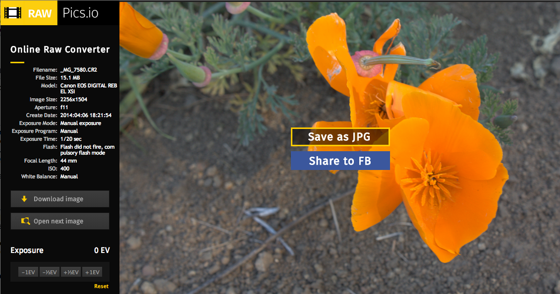 Screen Shot 2014 04 30 at 3.52.43 PM Finally: You can open and process Raw images in your browser