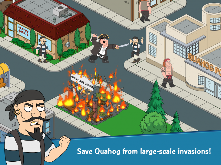 Screenshot 2 730x547 Hands on: Family Guy's first mobile game captures its irreverent hilarity as you rebuild Quahog