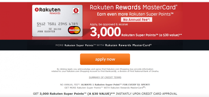 Screenshot 2014 04 09 19.48.33 730x341 Rakuten takes its banking services global, launching a credit card and loyalty scheme in the US