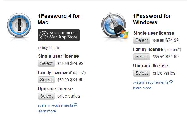 Agile Bits 1Password 5 Discount Student Price. 1Password Software Prices