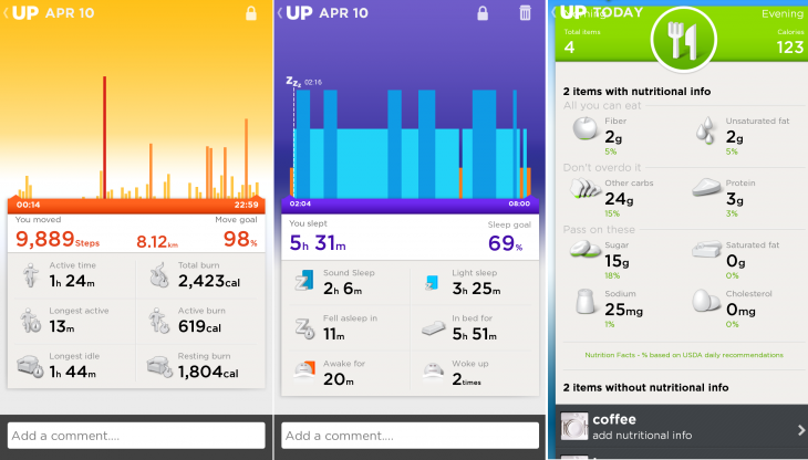 Sleep activity up241 730x416 UP24 review: Jawbones newest activity tracker ups the ante for the quantified self