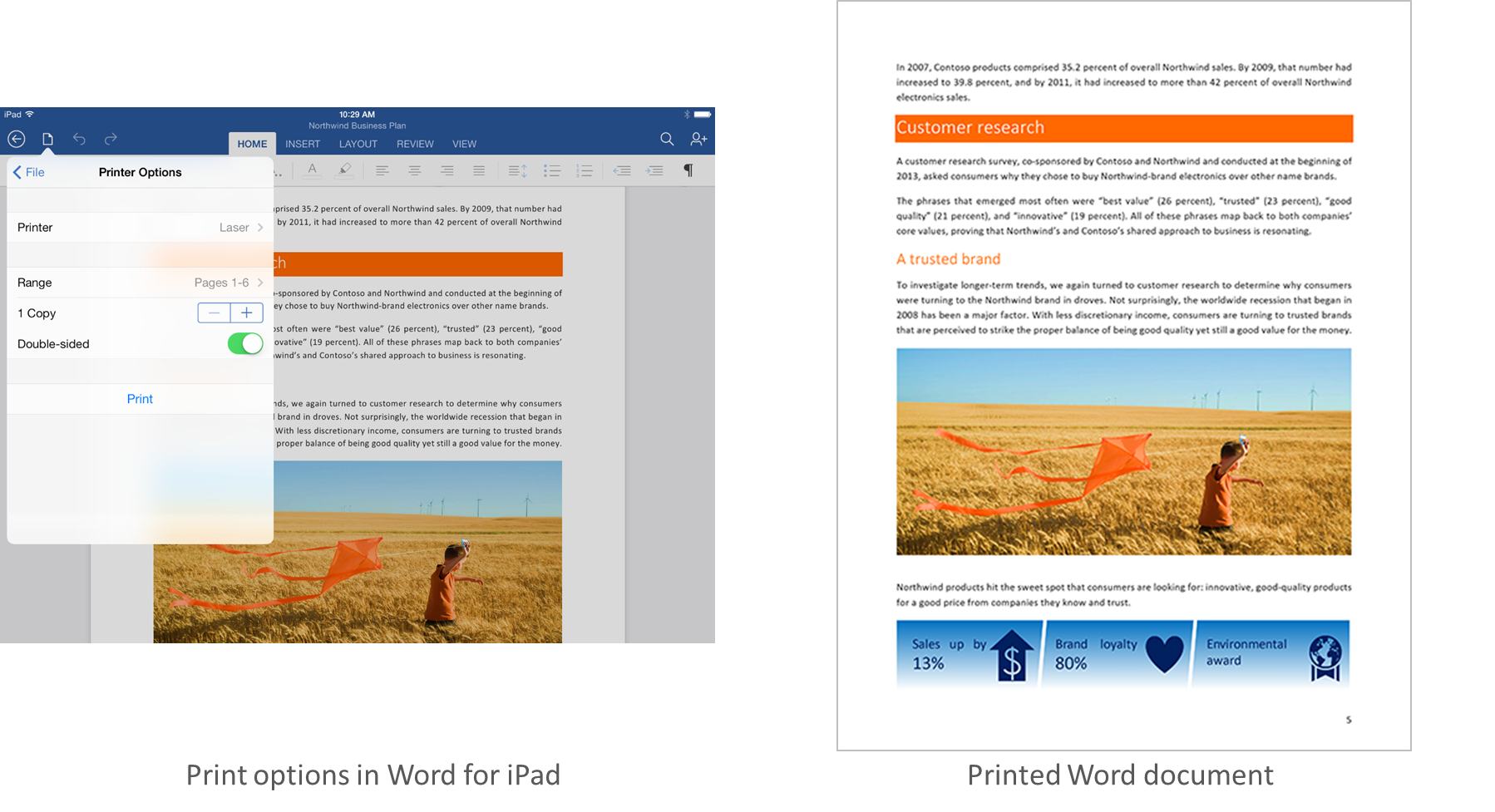Word print options Microsoft updates Office for iPad with AirPrint support, AutoFit in Excel, and SmartGuides in PowerPoint