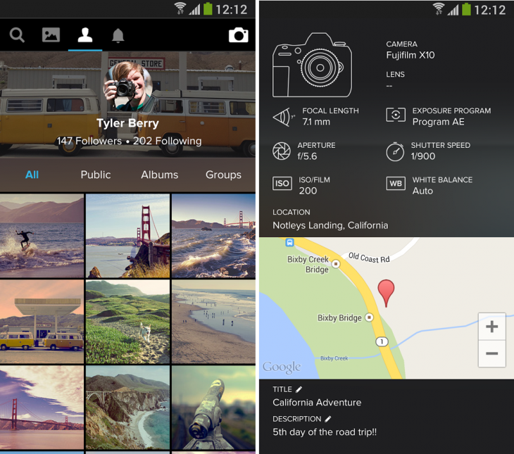 Yahoo Flickr3 730x645 Flickr apps overhauled with new look and features for editing images and adding filters [updated]