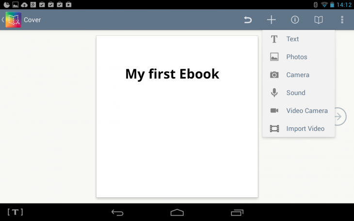 a1 730x456 Book Creator now lets you create your own ebooks from your Android tablet