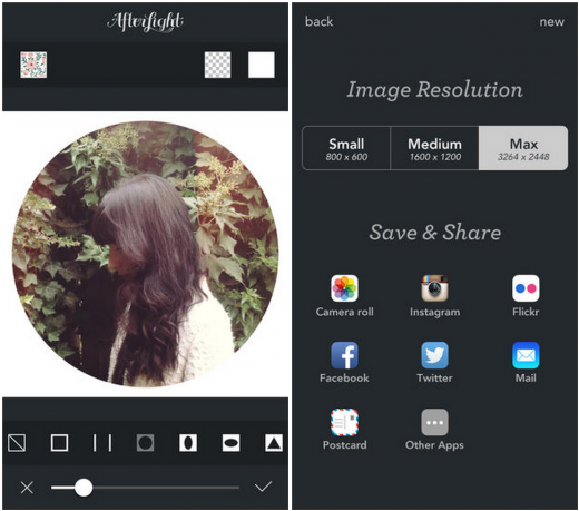 afterlight 520x459 10 image editing tools to make photos fit for social sharing