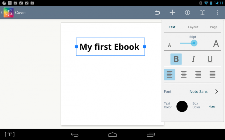 b1 730x456 Book Creator now lets you create your own ebooks from your Android tablet