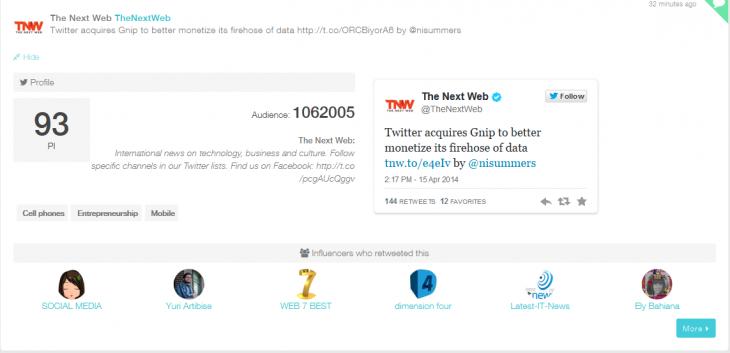 b9 730x353 With PiQ, PeerIndex wants to help marketers make sense of Twitter