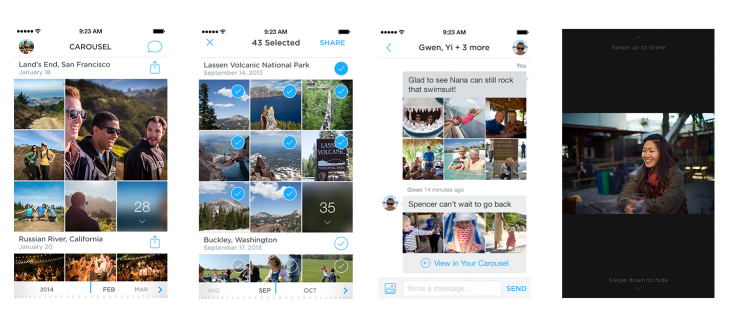 carousel 730x312 Dropbox announces Carousel, a cross device photo and video gallery