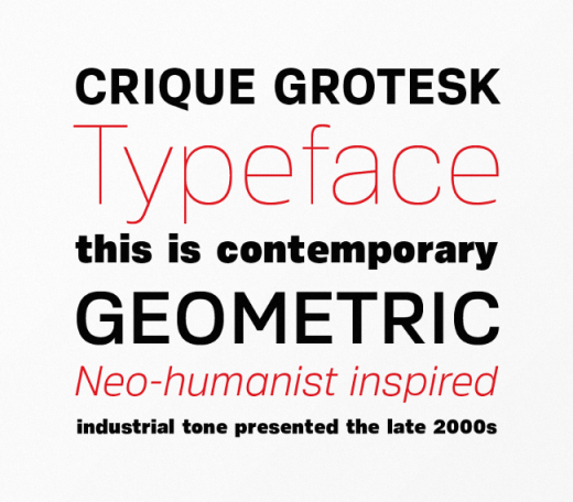 crique 520x456 Our favorite typefaces from March 2014