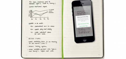 Evernote and Moleskine's new business notebook lets you share only a select part of each page