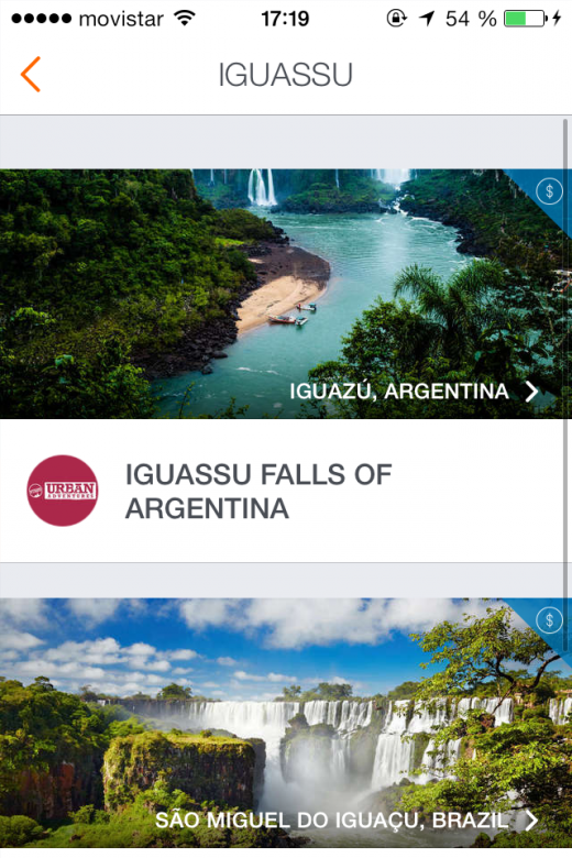 epiclist bookable iguassu 520x780 Epiclists app lets you plan, book and share your next travel adventure
