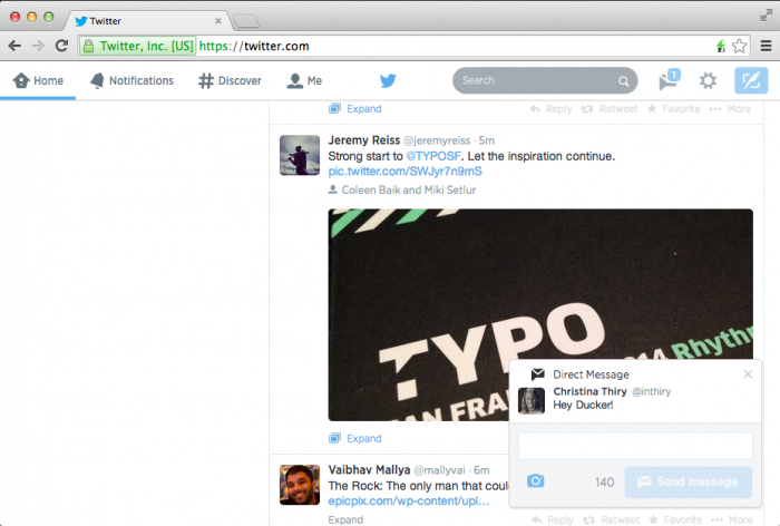 final Twitter rolls out real time interactive notifications on the Web for replies, favorites, retweets, follows, DMs