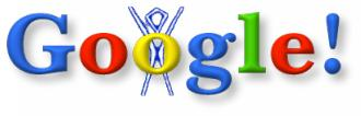The very first Google Doodle, from August 30, 1998