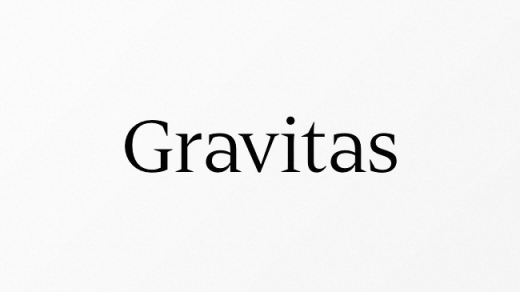 gravitas 520x292 Our favorite typefaces from March 2014