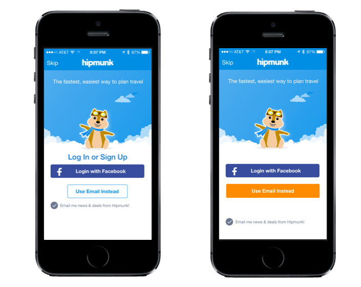 hipmunkdemo Optimizely launches platform for testing and tweaking your native iOS apps