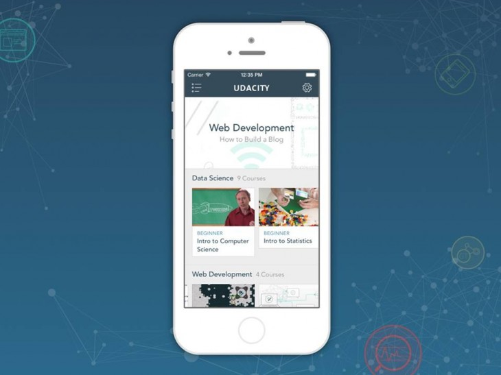 iphone 730x547 Online learning company Udacity expands its iOS app to support the iPhone