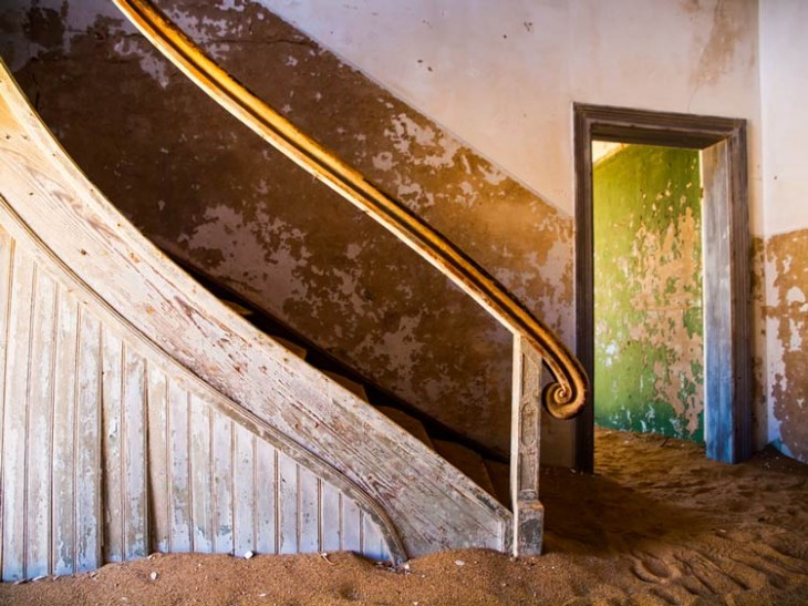 kolmanskop6 730x547 Explore an eerie African ghost town engulfed by the desert