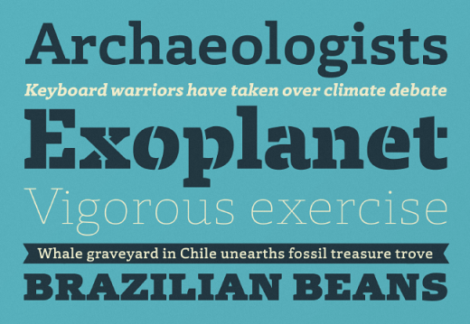 laski slab 520x359 Our favorite typefaces from March 2014